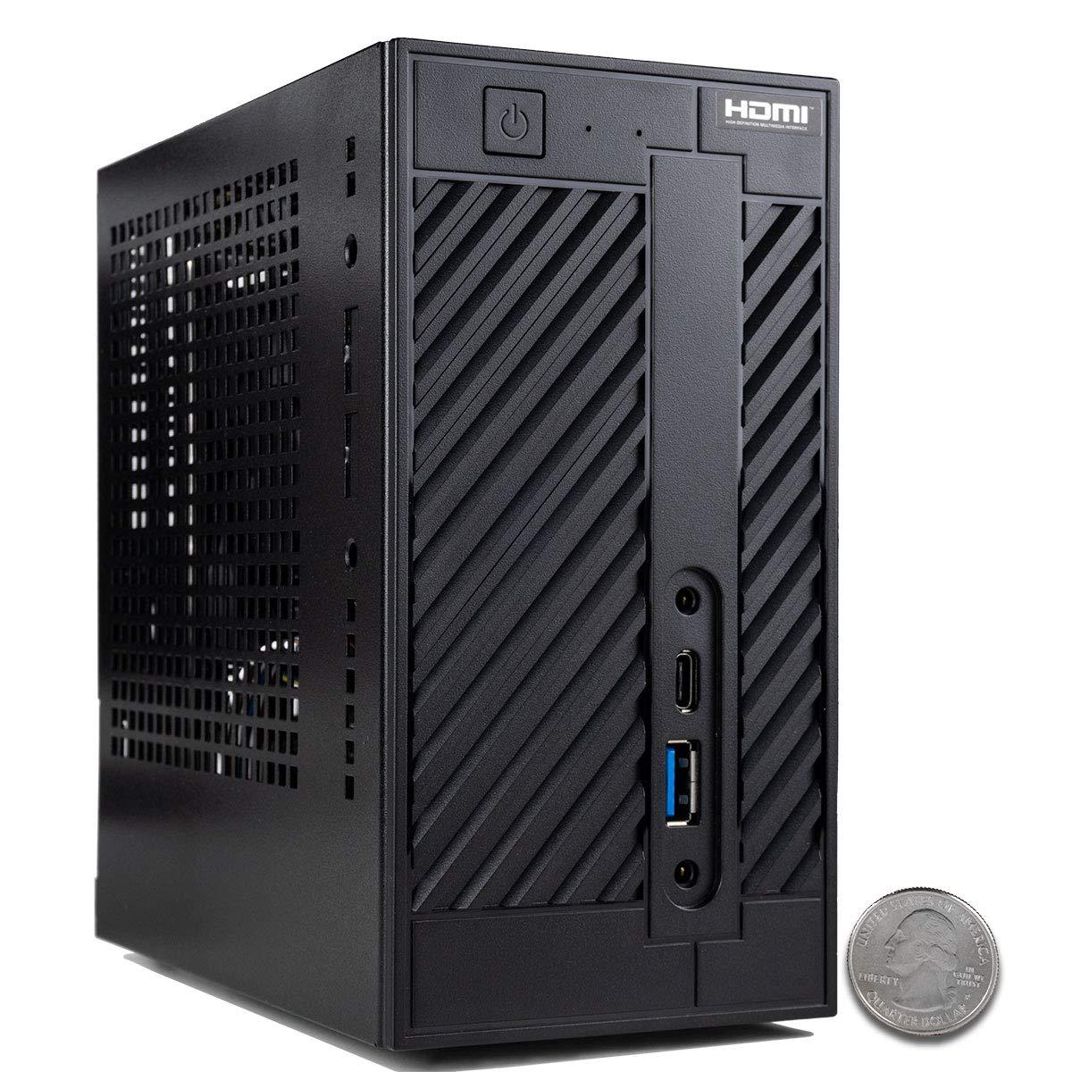CUK AsRock DeskMini A300W Tiny Desktop (AMD Ryzen 3 3200G + Radeon RX Vega 8, 16GB 2666MHz DDR4 RAM, 512GB NVMe SSD, No OS) Mini Small Form Factor PC Computer
