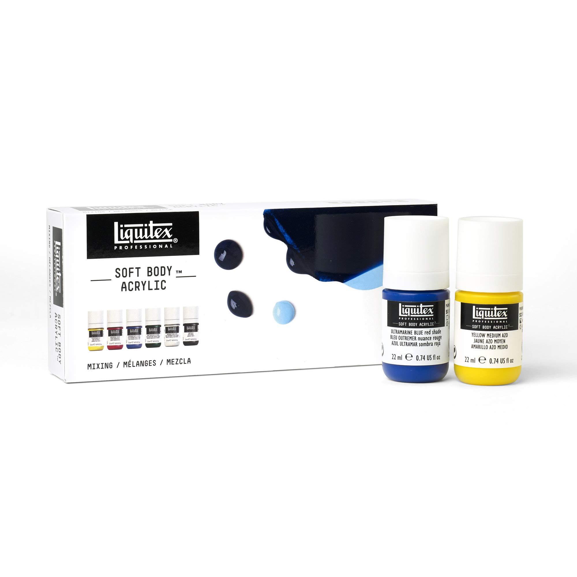 Liquitex Professional Soft Body Acrylic Paint, Mixing Set 22ml, 6 Colors, 4 Fl Oz
