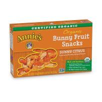 Annie's Organic Sunny Citrus Bunny Fruit Snacks, Gluten Free (20 Pouches)