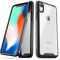 Sankmi iPhone XR Cases, Clear Ultra Thin iPhone XR Case Protective Black TPU Bumper Blue Cool iPhone XR Case Non Slip Scratch Resistant PC Hard Back Shockproof Cover Case for iPhone XR (Black)