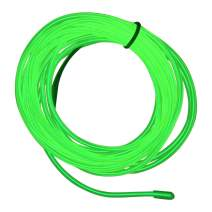 M.best EL Wire Kit Glowing Neon Light with Battery Pack (15FT, Lemon Green)