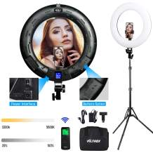 Ring Light 18 inches with Light Stand, Remote Control and Phone Holder, 3300K -5600K Lighting Kit for Camera, Smart Phone, Makeup,YouTube Video Shooting, Selfie, Photography Lighting