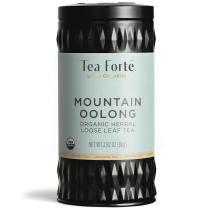 Tea Forte Mountain Oolong Organic Herbal Tea, Loose Tea Canister Makes 35-50 Cups, Lotus Organic Herbal Tea, 2.82 Ounces