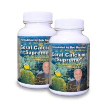 Bob Barefoot Coral Calcium Supreme 1000mg - 2 Bottles - 90 Caplets Each - New Improved Formula - Made From Pure Marine Grade Okinawa Coral Calcium - With Essential Vitamins + 75 Trace Minerals