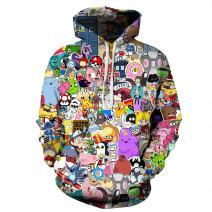 NEWCOSPLAY Unisex Novelty Hooded Sweatshirts 3D Printed Hoodies Colorful Pattern 074 (XXL/XXXL)