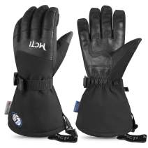 Botack Waterproof Mens Ski Gloves -30℉ Touchscreen Winter Warm Gloves 3M Thinsulate Extreme Cold Weather Gloves