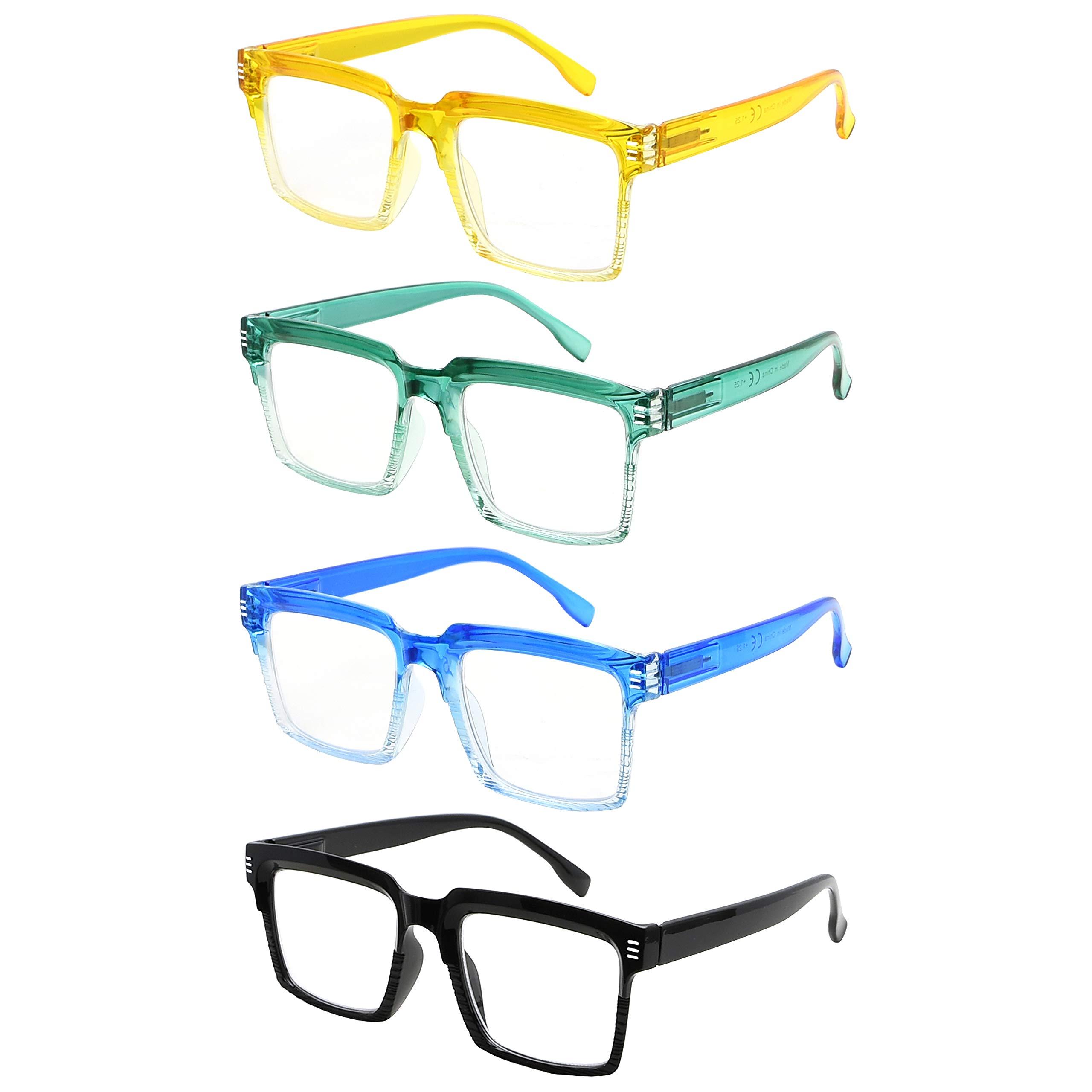 Eyekepper 4-Pack Design Reading Glasses for Women - Fashionable Oversized Readers