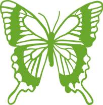 hBARSCI Butterfly Vinyl Decal - 5 Inches - for Cars, Trucks, Windows, Laptops, Tablets, Outdoor-Grade 2.5mil Thick Vinyl - Lime