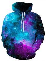 uideazone Unisex 3D Hoodie Cool Pullover Hooded Sweatshirts Big Pockets Fleece Plush Lining