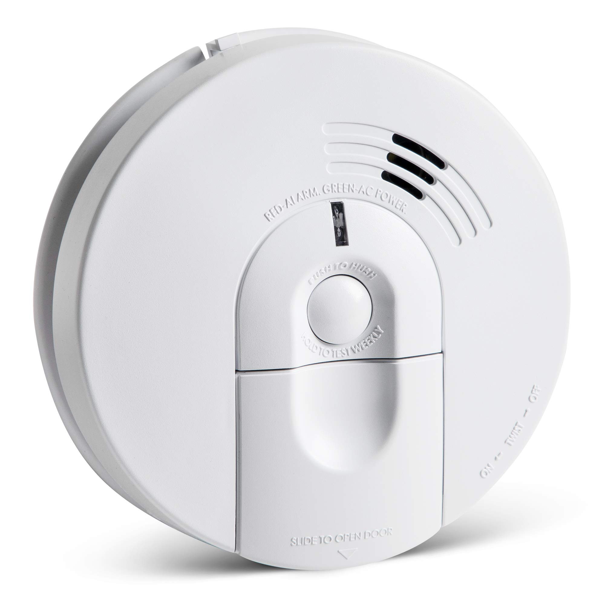 Kidde 21026063 AC Hardwired Smoke Detector Alarm with 9V Back up and Front Load Battery Door