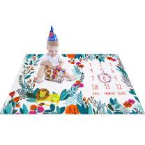 """Topixdeals Baby Monthly Milestone Blanket -Large & Soft Photography Backdrop Photo Prop for Girls Boys- Perfect Baby Shower Gift for New Moms - Reusable Premium Baby Blanket - 100x150cm/40""""X60"""""""