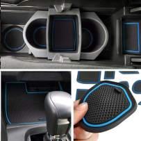 Auovo Anti-dust Door Mats Inserts Cup Center Console Liner Accessories Fit for Honda Civic Sedan 2016 2017 2018 2019 2020 (21pcs/Set, Blue)