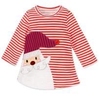 Fashspo Little Girls Sweater Dress Ugly Christmas Party Santa Xmas Long Sleeve Dress Red, S20-6T/130cm