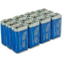 TENS 7000 Official 12 Pack of Long Lasting 9-Volt Heavy Duty Batteries - 9 Volt Battery for TENS Unit - 12 All Purpose Batteries - Heavy Duty Battery for Everyday Use - 100% Durability Guaranteed