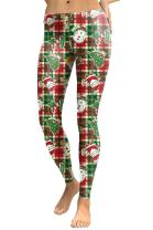 COCOLEGGINGS Womens Digital Print Ugly Christmas Sweater Leggings Tights