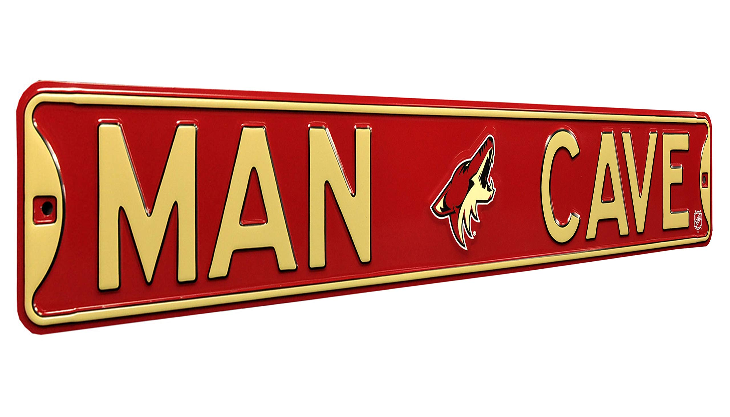 Authentic Street Signs NHL, Man CAVE, Officially Licensed, Real 3 Foot, Premium Grade Solid SteelEmbossed Street Sign- Prime Wall Decor for Home, Office, Garage for Him!!