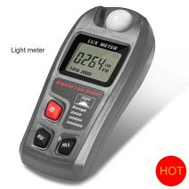 Light Meter, GoerTek Digital Luxmeter Illuminance Meter Handheld Actionometer Foot Candle Meter High Accuracy(±4%) with LCD Display One 9V Battery Included Range 0.1-200,000 Lux/0.01-20,000 Fc