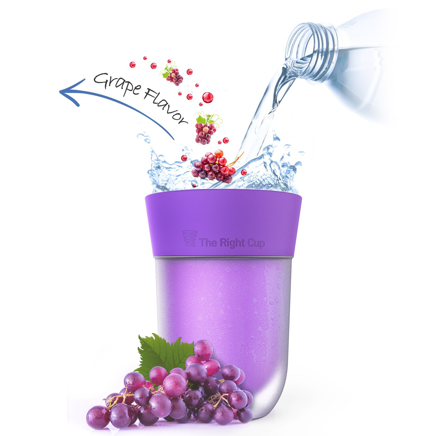 Scent Flavored Grape cup - The cure for boring water!
