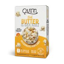 Quinn Snacks Microwave Popcorn - Made with Organic Non-GMO Corn - Real Butter & Sea Salt, 6.9 Ounce (Pack of 1)