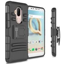 CoverON Kickstand Belt Clip Explorer Series for Alcatel 7 / T-Mobile REVVL 2 Plus Holster Case, Black