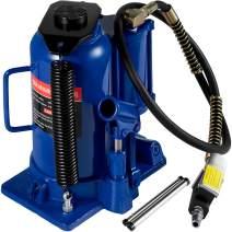 Mophorn Air Hydraulic Bottle Jack 20 Ton Bottle Jack Blue Air Jack Heavy Duty Auto Truck Repair Lift