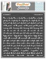 CrafTreat Scripture Stencils for Painting on Wood, Canvas, Paper, Fabric, Floor, Wall and Tile - Script Stencil - 6x6 Inches - Reusable DIY Art and Craft Stencils - Crafting Script Stencils Alphabet