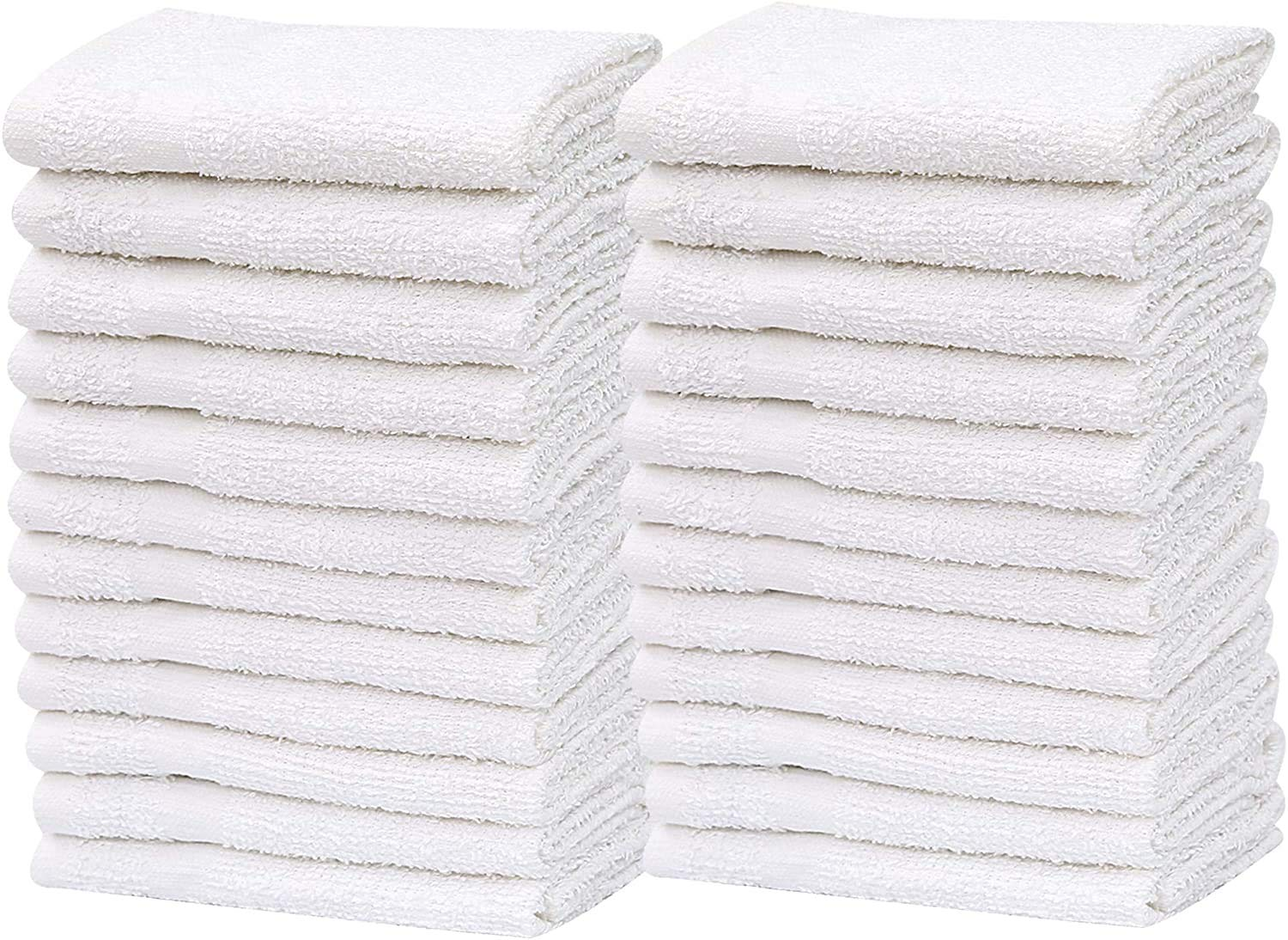 """GOLD TEXTILES Wash Cloth Kitchen Towels,100% Natural Cotton, (12""""x12"""") Hand Towels, Commercial Grade Washcloth, Machine Washable Cleaning Rags, Wash Cloths for Bathroom bu (60, White)"""