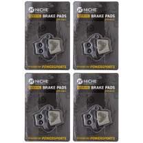 NICHE Brake Pad Set for Honda CRF250RX CRF2250X CRF450R CRF250F CRF450X CR250R Rear Organic 4 Pack