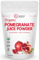 Organic Pomegranate Juice Powder, 1 Pound (16 Ounce), Freeze Dried & Cold Pressed, Natural Vitamin C (Immune Vitamin) to Support Immune System, Organic Flavor for Smoothie & Beverage, Vegan Friendly