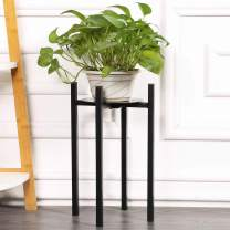 """Sunnyglade Plant Stand Metal Potted Plant Holder Sturdy, Galvanized Steel Pot Stand with Stylish Mid-Century Design, Medium for Indoor, Outdoor House, Garden & Patio (15"""" High)"""