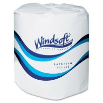 Windsoft 2400 Facial Quality Toilet Tissue, 2-Ply, Single Roll (Case of 24)