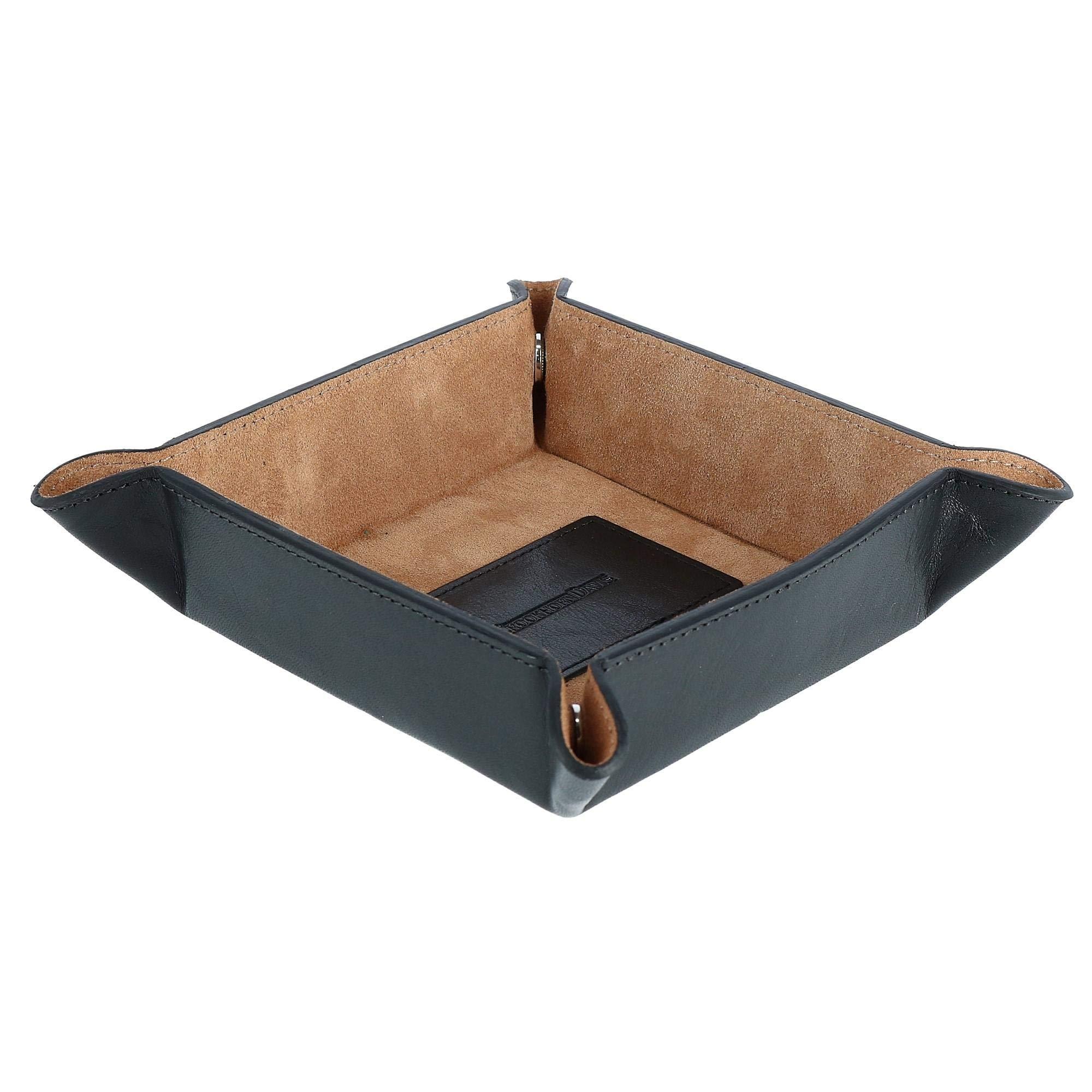 CrookhornDavis Men's Italian Vachetta Calfskin Leather Valet Tray
