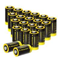 3V CR123A Lithium Battery, High Capacity 20 Pack 1500mAh Non-Rechargeable CR123A Batteries PTC Protected for Flashlight, Camera, Toys, Alarm System (Not Compatible with Arlo Cameras)