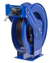 """Coxreels THP-N-350 Supreme Duty Spring Rewind Hose Reel for grease/hydraulic oil: 3/8"""" I.D., 50' hose, 4000 PSI"""