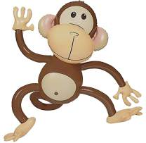 Inflatable Monkey (4 Pack) 27 Inch Monkeys For Jungle Safari Birthday Party Decoration Supplies Kids Animal Party Decor Supplies Favors, Monkey Baby Shower By 4E's Novelty