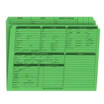 Real Estate Listing Folder – Right Panel List, Pre-Printed on Durable Card Stock with Closing Checklist and Color-Coded Dots for Organizing (Green, Letter Size | Pack of 25)