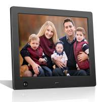 Digital Picture Frame Full HD Display Photo 180°View Angle Digital Photo Frame Support Background Music USB SD Slot Calendar Alarm Smart Electronic Picture Frame Motion Sensor Remote Control (8 Inch)