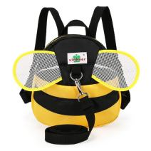 ELEOPTION Baby Cartoon Plush Backpack Anti-Lost Shoulder Bags with SafetyWalking Leash for 1-3 Years Old Kids (Bee-Yellow)
