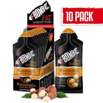FBOMB Nut Butter 10 Pack: All-Natural Energy, Keto Fat Bombs | High Fat, Low Carb Snack, On-The-Go Energy | Paleo, Vegetarian, Keto Snacks | Macadamia & Sea Salt - 1 oz Packets