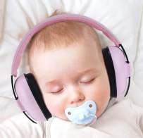 Baby Ear Protection Ear Muffs for 3 Months to 2+ Years Noise Reduction Hearing Protection for Infant and Toddlers Pink Color. (Pink3)
