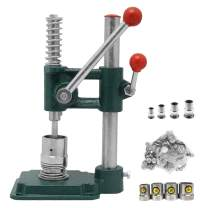 TZUTOGETHER Button Maker, Handmade Fabric Covered Button Maker Personalized Button Machine DIY Tool with 4 Molds (diameters 18/23/25/30mm) and 400 Pcs Buttons