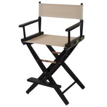 "American Trails Extra-Wide Premium 24"" Director's Chair Black Frame with Natural Canvas, Counter Height"