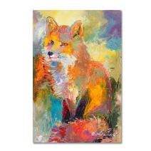 Fox by Richard Wallich, 12x19-Inch Canvas Wall Art