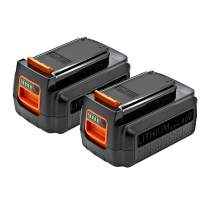 2 Pack ExpertPower 40V 2.0 Ah Lithium-Ion Battery for Black&Decker LBX2040, LBXR36, LBXR36-2, LBX36, LBXR2036, LBX1540, LBX2540 work with LST540 LCS1240 LBX1540 LST136W Tools