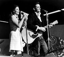 Johnny Cash and June Carter on stage Photo Print (10 x 8)