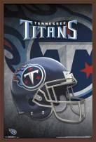 """Trends International NFL Tennessee Titans - Helmet, 22.375"""" x 34"""", Mahogany Framed Version"""