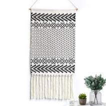 LOMOHOO Macrame Woven Wall Hanging Tapestry Boho Chic Wall Decor Geometric Art Bohemian Decoration for Apartment Home Dorm Room Backdrop (Morocco)