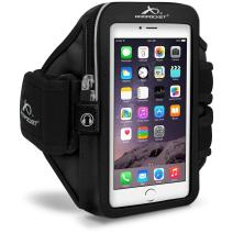 Armpocket Mega i-40 Armband, Black, Large Strap for iPhone SE 2020, 11, 11 Pro, XS, XR, X, 8, Galaxy S20, Note 10, S10, S10e, Pixel 4, 3, 2 and Pixel 4 XL, 3a XL or Phones and Cases up to 6.5 Inches