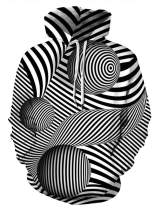 HelloTem Unisex Hoodie 3D Printed Sweatshirt with Big Pockets Plus Size Hooded Pullover