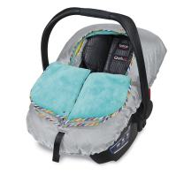 Britax B-Warm Insulated Infant Car Seat Cover, Machine Washable, Arctic Splash